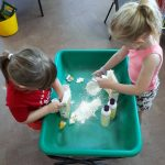 Making Silky Dough, with cornflour & hair conditioner