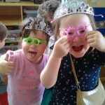 Using Mr & Mrs Potato Heads glasses to support their role play.